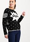 space safari sweater, super black dot, Pullover & leichte Jacken, Schwarz
