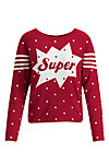 space safari sweater, super red dot, Pullover & leichte Jacken, Rot