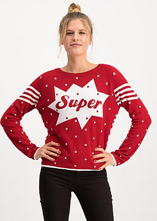 space safari sweater, super red dot, Pullover & leichte Jacken, Rot
