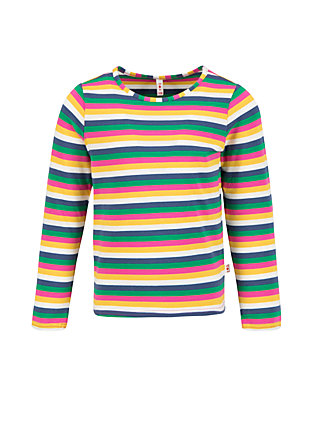 superheldin longsie, rainbow stripes, Shirts, Blue