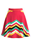 supernatural skirt, super rainbow stripes, Röcke, Rot