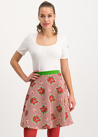 supernatural skirt, super bouquet stripes, Röcke, Rot