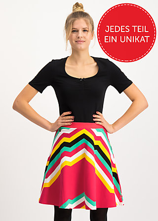 supernatural skirt, super rainbow stripes, Röcke, Rot