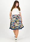 superpower skirt, super comic, Röcke, Blau
