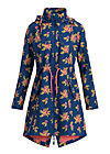 swallowtail promenade coat, floral stellar, Jackets & Coats, Blue