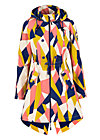swallowtail promenade coat, great graphic, Jacken & Mäntel, Blau