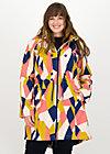 swallowtail promenade coat, great graphic, Jacken & Mäntel, Blau