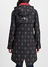 swallowtail promenade coat, red hood, Jacken & Mäntel, Schwarz
