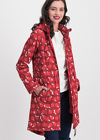 swallowtail promenade coat, eat the apple, Jacken & Mäntel, Rot
