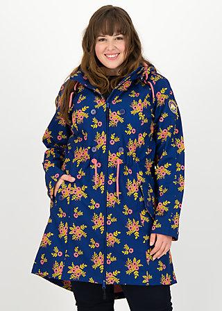 swallowtail promenade coat, floral stellar, Jacken & Mäntel, Blau