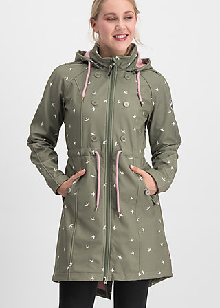 swallowtail promenade coat, snow swallow, Jackets & Coats, Green