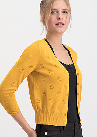 sweet petite cardy, golden brown apple, Pullover & leichte Jacken, Gelb