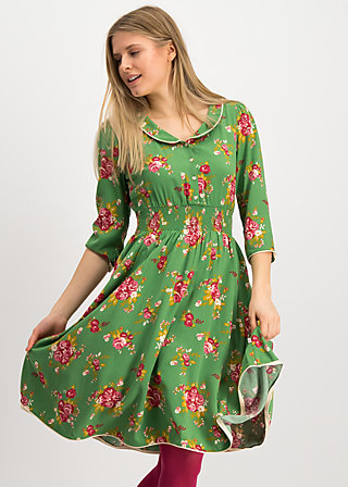 très superbe robe, super bouquet, Kleider, Grün