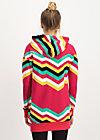 Zip Top what a pleasure, super rainbow stripes, Zip jackets, Red
