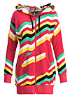 what a pleasure zip, super rainbow stripes, Jumpers & lightweight Jackets, Red