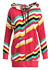 what a pleasure zip, super rainbow stripes, Pullover & leichte Jacken, Rot