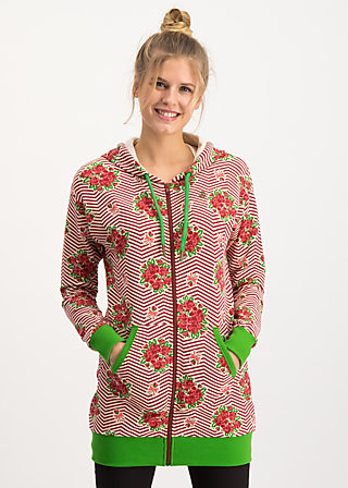 what a pleasure zip, super bouquet stripes, Jumpers & lightweight Jackets, Red