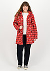 wild weather long anorak, eat the apple, Jackets & Coats, Red