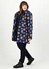 wild weather long anorak, floral stellar, Jacken & Mäntel, Blau
