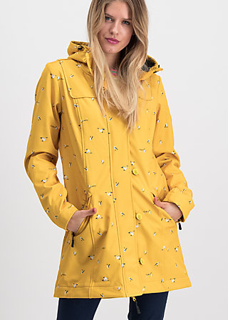 Soft Shell Parka wild weather long anorak, frisian seagull, Jackets & Coats, Yellow