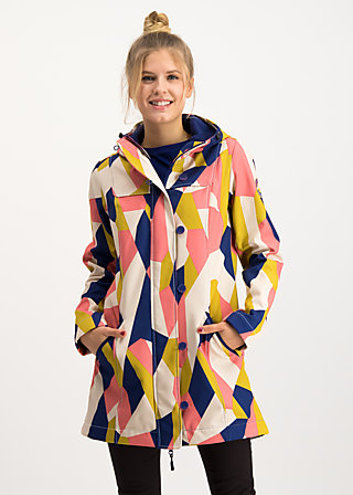 wild weather long anorak, great graphic, Jackets & Coats, Blue