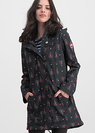 wild weather long anorak, red hood, Jackets & Coats, Black