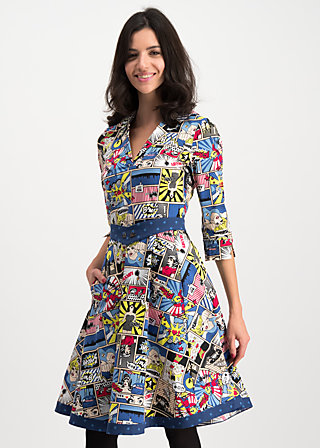 wonder woman dress, super comic, Dresses, Blue