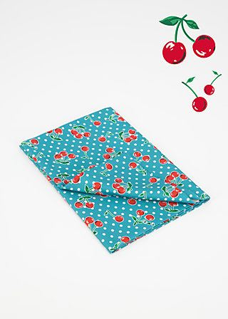 woven fabric, cherrie dots, Accessoires, Turquoise