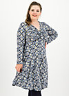 cold days hot knot robe, silky snowflower, Kleider, Blau