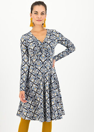 cold days hot knot robe, silky snowflower, Dresses, Blue