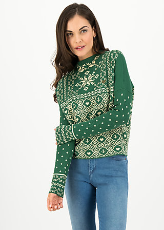 Strickpullover cosy and cool, norwegian treetops, Pullover & Sweatshirts, Grün