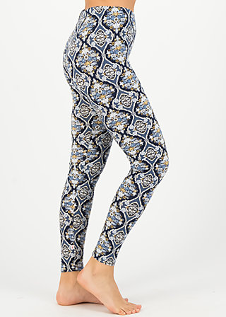 fantastic mind legs, silky snowflower, Leggings, Blau