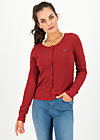 ladyklappe cardigan, red glitter, Jumpers & lightweight Jackets, Red