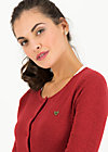 Cardigan ladyklappe, red glitter, Cardigans & lightweight Jackets, Red