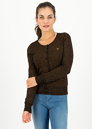 ladyklappe cardigan, black glitter, Jumpers & lightweight Jackets, Black