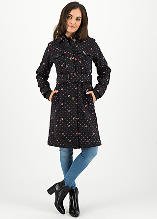 peacemaker thermo-trench, super pixel cherry, Jackets & Coats, Black