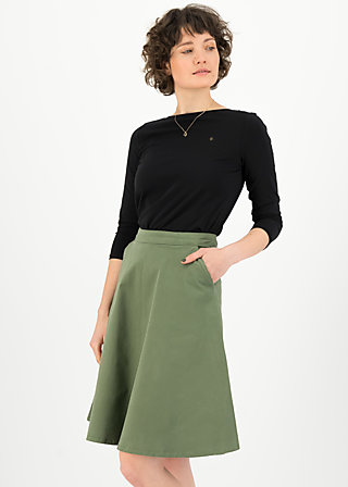 High Waisted Skirt savoir vivre sister, light khaki, Skirts, Green