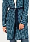 Lange Strickjacke rendez-vous with myself, blue plume, Cardigans & leichte Jacken, Blau