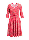 country rose swing dress, paisley power, Jerseykleider, Rot