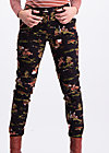horse & carriage pencil pants , wild wild west, Hosen, Schwarz