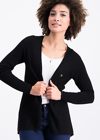 light hearted envelope cardy, black mountain, Pullover & leichte Jacken, Schwarz