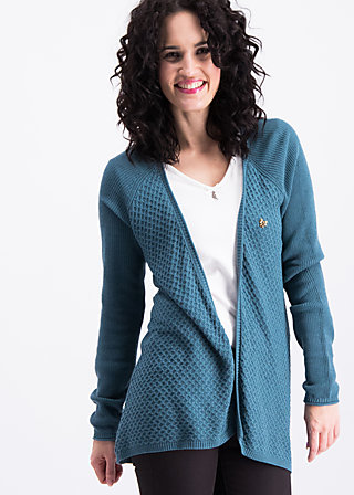 light hearted envelope cardy, blue river, Cardigans, Türkis