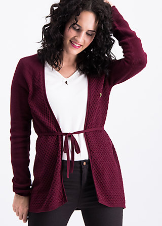 light hearted envelope cardy, bordeaux sunset, Pullover & leichte Jacken, Rot