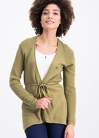 light hearted envelope cardy, green plains, Cardigans, Grün
