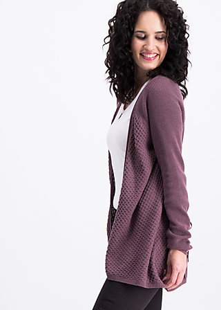 light hearted envelope cardy, purple stone, Cardigans, Lila