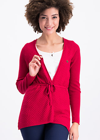 light hearted envelope cardy, red desert, Cardigans, Rot