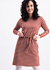 logo stripes longsleeve dress, earth line, Kleider, Braun