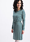 logo stripes longsleeve dress, water line, Kleider, Türkis