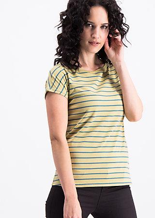 logo stripes marine tee, corn line, Shirts, Gelb