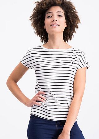logo stripes marine tee, prison line , Shirts, Weiß